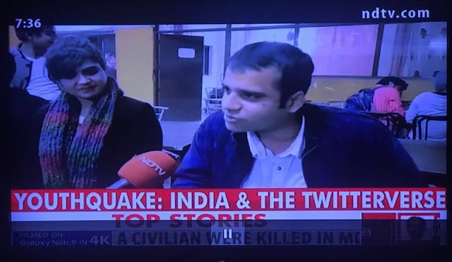 Murtaza Ali Khan in a special episode of NDTV Youthquake from Dayal Singh College