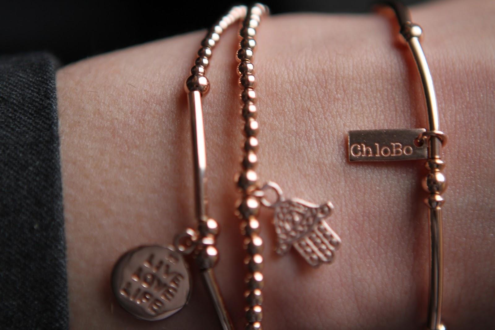 Chlobo rose gold bracelets