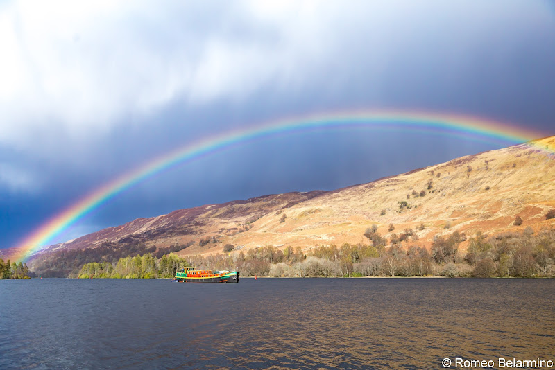 Rainbow Over Ros Crana Scottish Highlands Barge Cruise