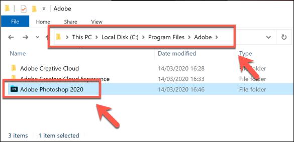 دليل التثبيت لبرنامج Adobe Photoshop على Windows