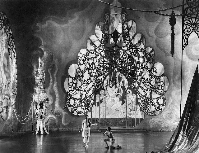 an elaborate 1928 theater stage set