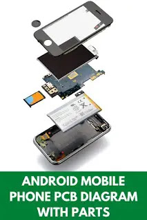 android mobile phone PCB diagram with parts