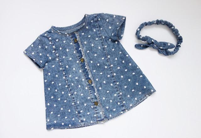 dziecięca sukienka z koszuli