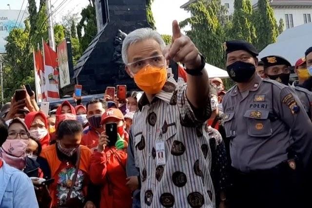 Gubernur Jateng Sentil Pejabat Tak Patuh Protokol Kesehatan