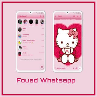 Hello Kitty Theme For YOWhatsApp & Fouad WhatsApp By Mary Silva