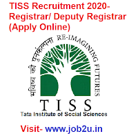 TISS Recruitment 2020, Registrar, Deputy Registrar