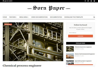 Sora Paper Blogger Template