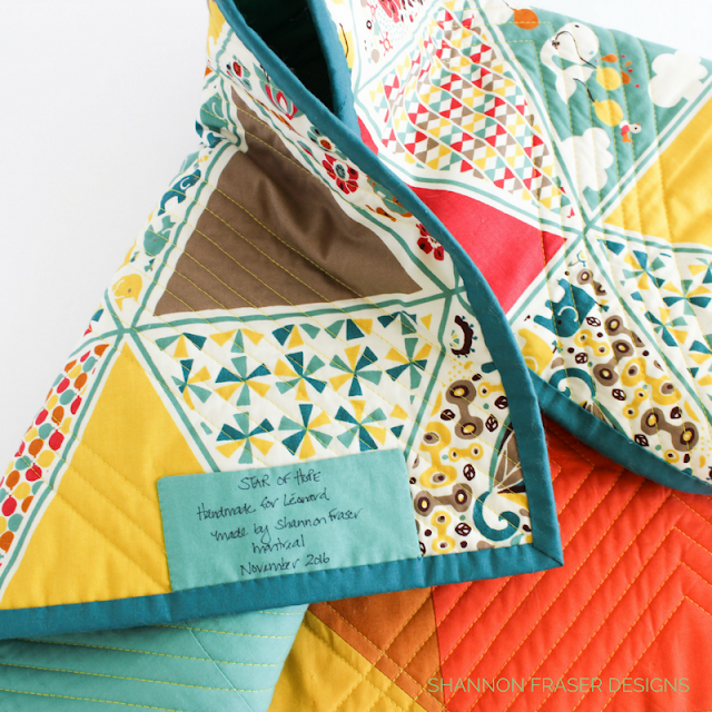 Star of Hope Quilt Label | DIY Quilt Label | Easy Tips of Quilt Label Success | Shannon Fraser Designs | Modern Quilting |