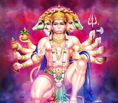 The Story of Panchmukhi (Five Faces) Hanuman