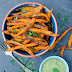 Baked sweet potato fries with avocado parsley pesto Patate dolci VEGAN con pesto di avocado e prezzemolo  - Italian & English version