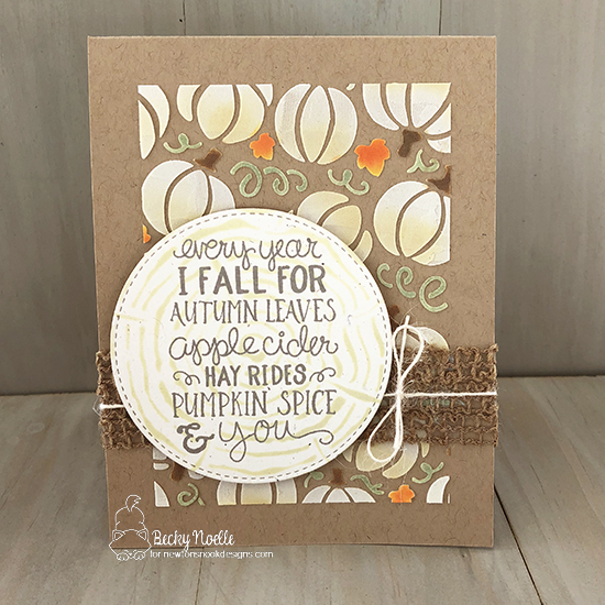 Every year I fall for autumn leaves by Becky features Pumpkin Patch, Tree Rings, and Fall-ing for You by Newton's Nook Designs; #newtonsnook