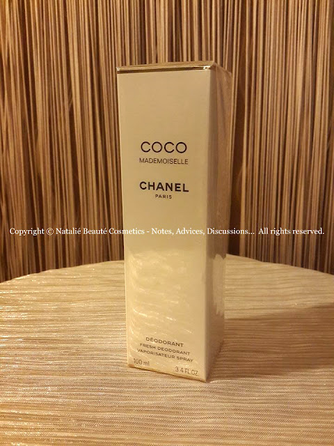 COCO MADEMOISELLE by CHANEL FRESH DEODORANT SPRAY PERSONAL PERFUME REVIEW AND PHOTOS BY NATALIE BEAUTE