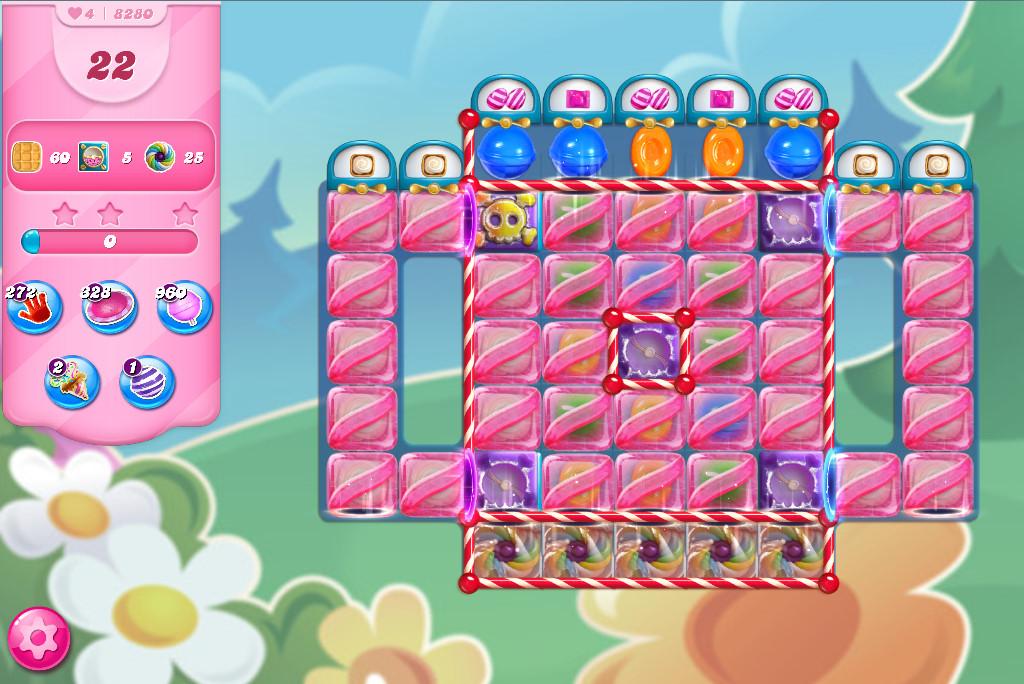 Candy Crush Saga level 8280
