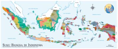 peta persebaran suku-suku bangsa yang ada di Indonesia www.simplenews.me