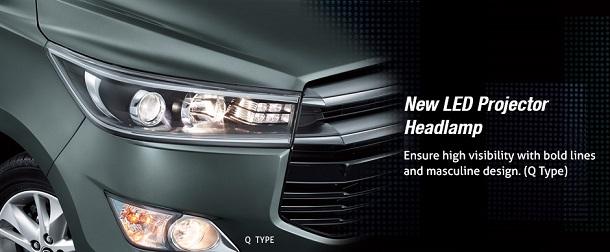 Eksterior Toyota All New Kijang Innova Terbaru Tipe G, V, Q, Luxury