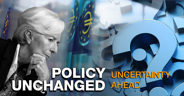 ECB Policy Unchanged but high degree of uncertainty ahead