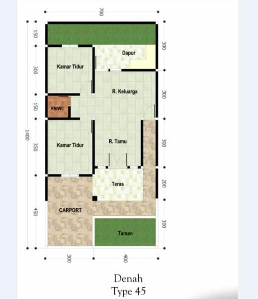 Desan rumah minimalis type 45