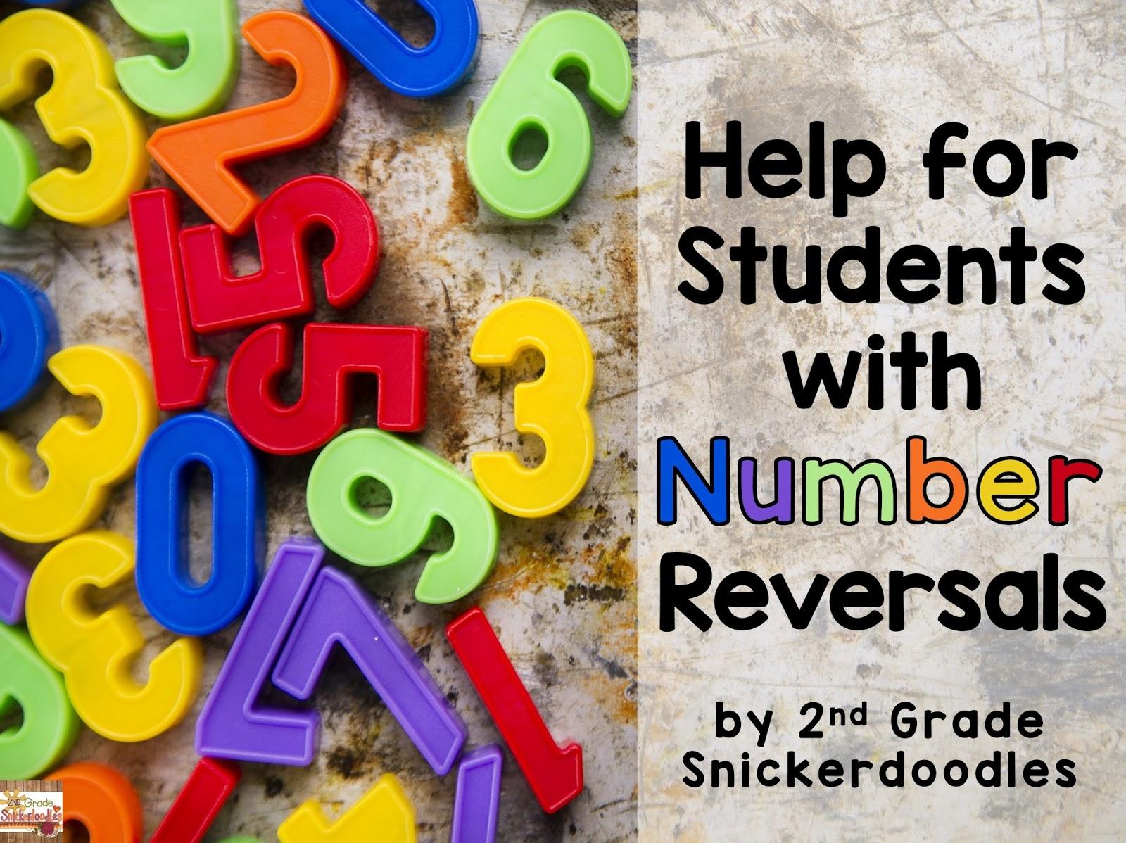 2nd Grade Snickerdoodles Number Reversals