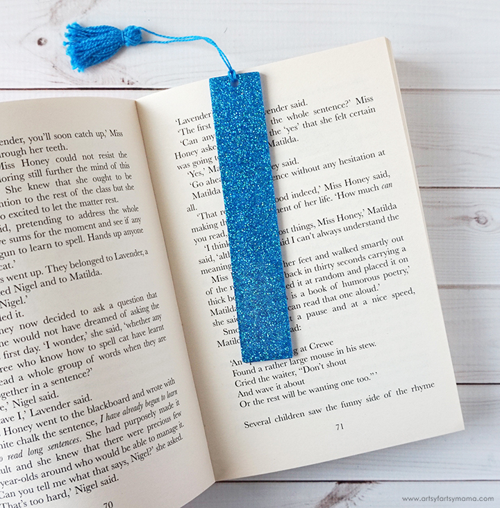 Glittered Resin Bookmark