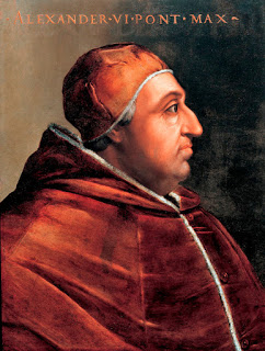 Sforza played an important part in helping Rodrigo Borgia be elected as Pope