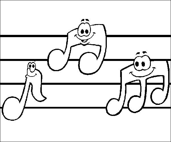 Music Coloring Pages Team Colors