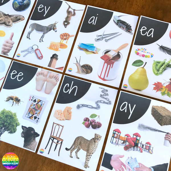 Digraph Wall Posters with Real Life Photos | you clever monkey