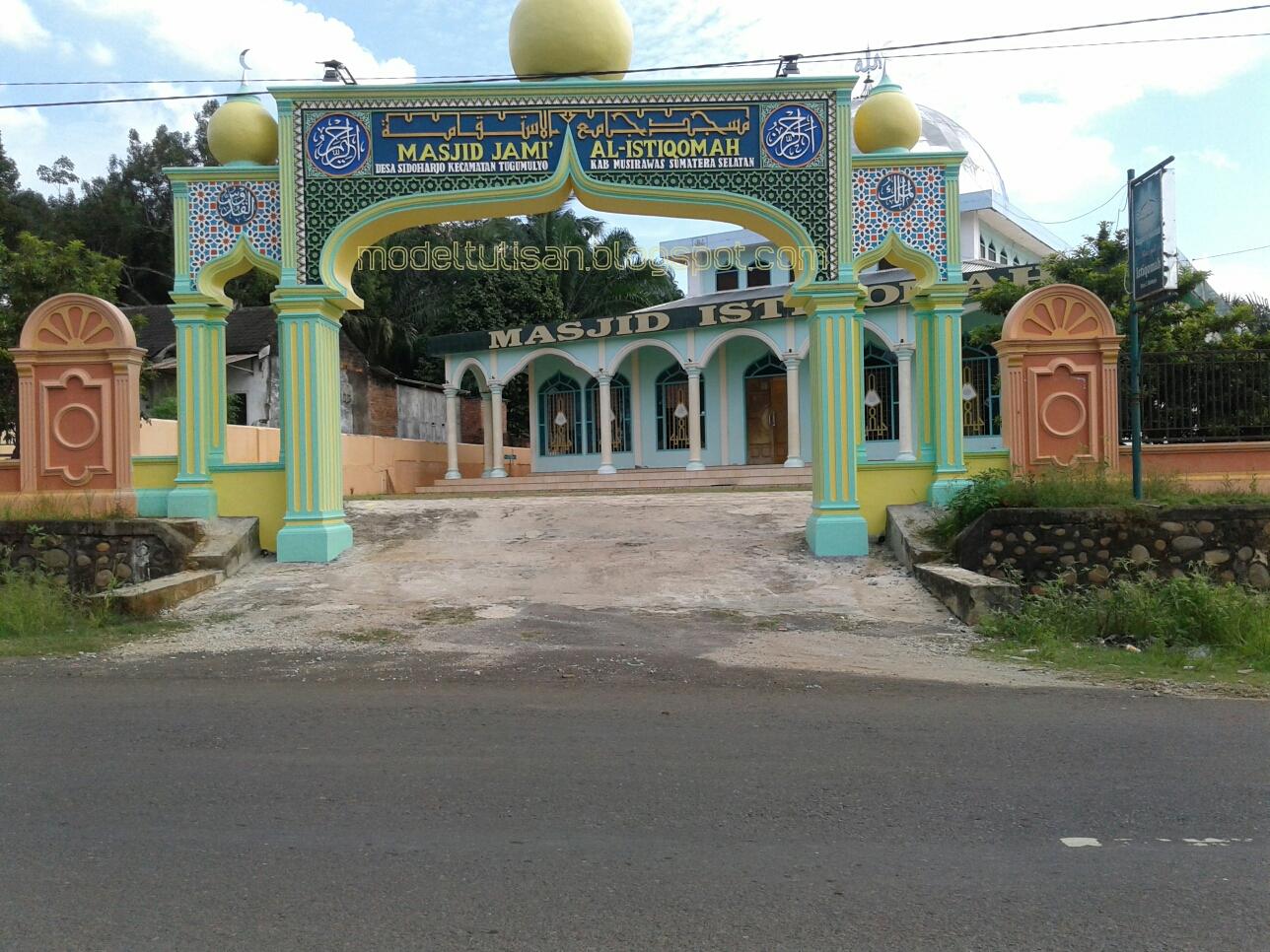 Model Tulisan Contoh Kaligrafi Hiasan Gerbang Masjid Agung
