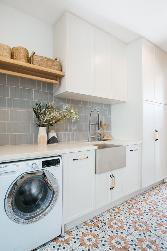 Laundry room at the Blue Lagoon Build
