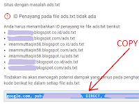 Cara Mengatasi Notifikasi Penghasilan Beresiko File Ads.txt