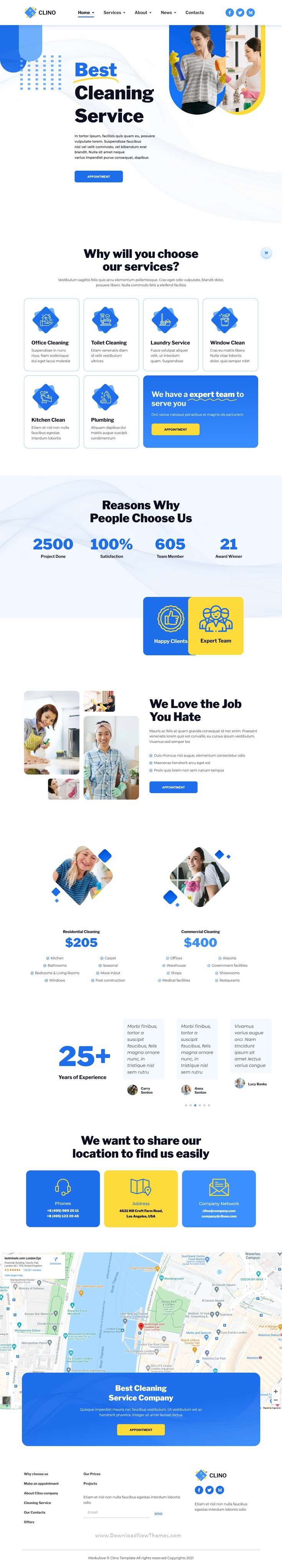 Cleaning Business Elementor Template Kit