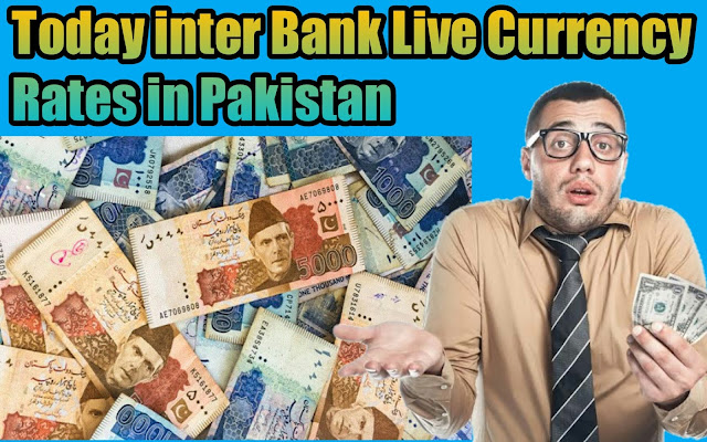 Today Live Interbank Currency Rates in Pakistan