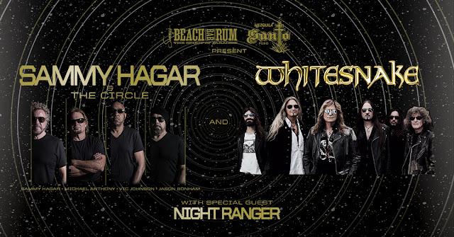 Sammy Hagar & The Circle, Whitesnake and Nightranger announce 2020 Summer Tour
