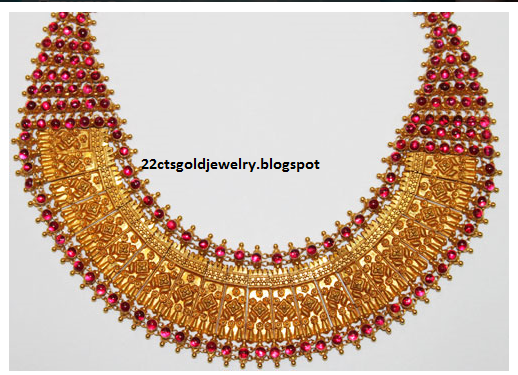 Gold Jewellery Designs: Malabar Antique and Nakshi Jewellery