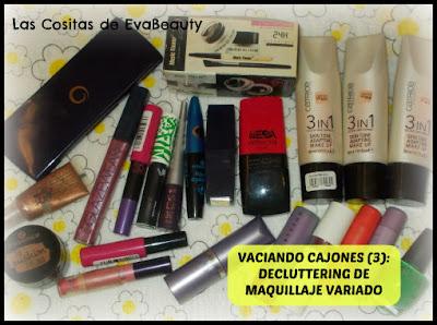Decluttering maquillaje variado