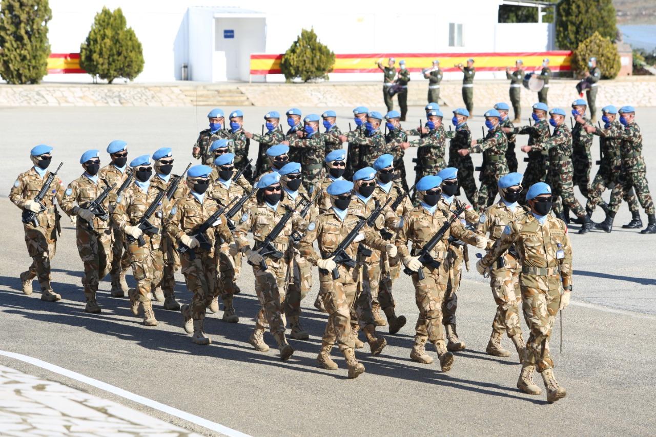 Wan TNI Satgas Garuda Unjuk Gigi di Sertijab Komandan Sektor Timur UNIFIL
