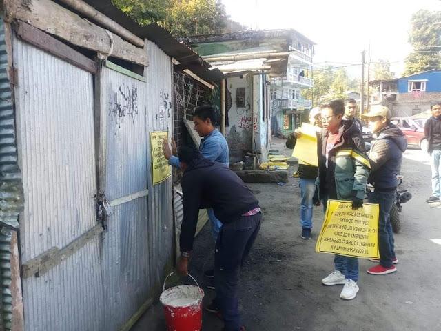 NRC CAA Protest postering in Darjeeling Hills