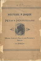 "Cover of ""Secure A Home in New Hampshire Where Comfort, Health, and Prosperity Abound."""