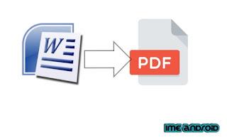 Word ke pdf langsung di Hp