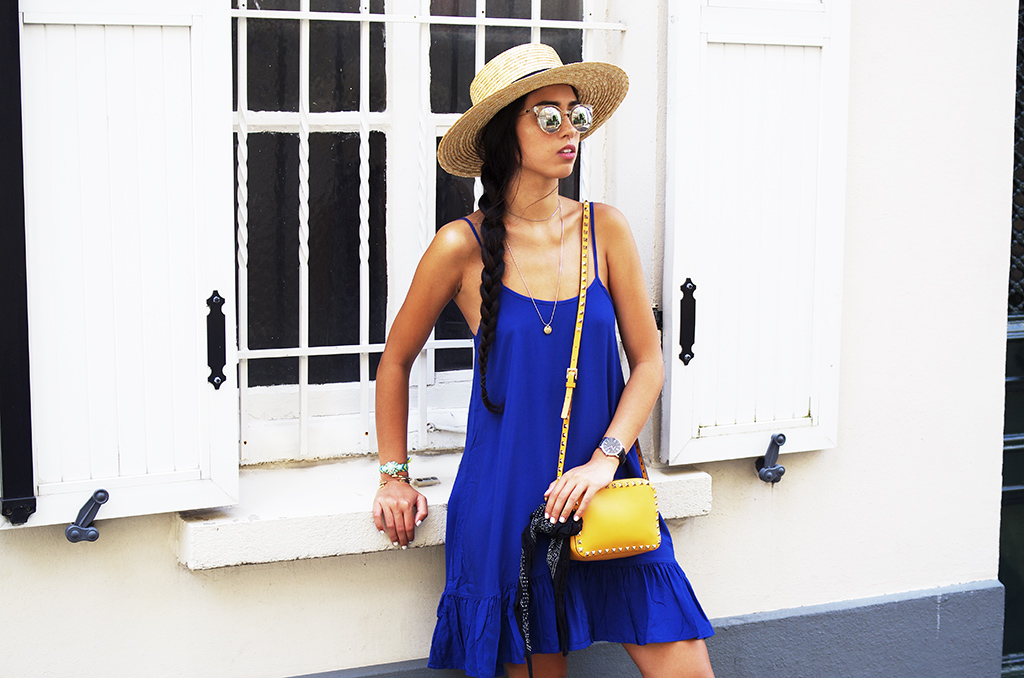 Elizabeth l Blue dress outfit l Mango H&M Valentino Chanel Zara l THEDEETSONE l http://thedeetsone.blogspot.fr