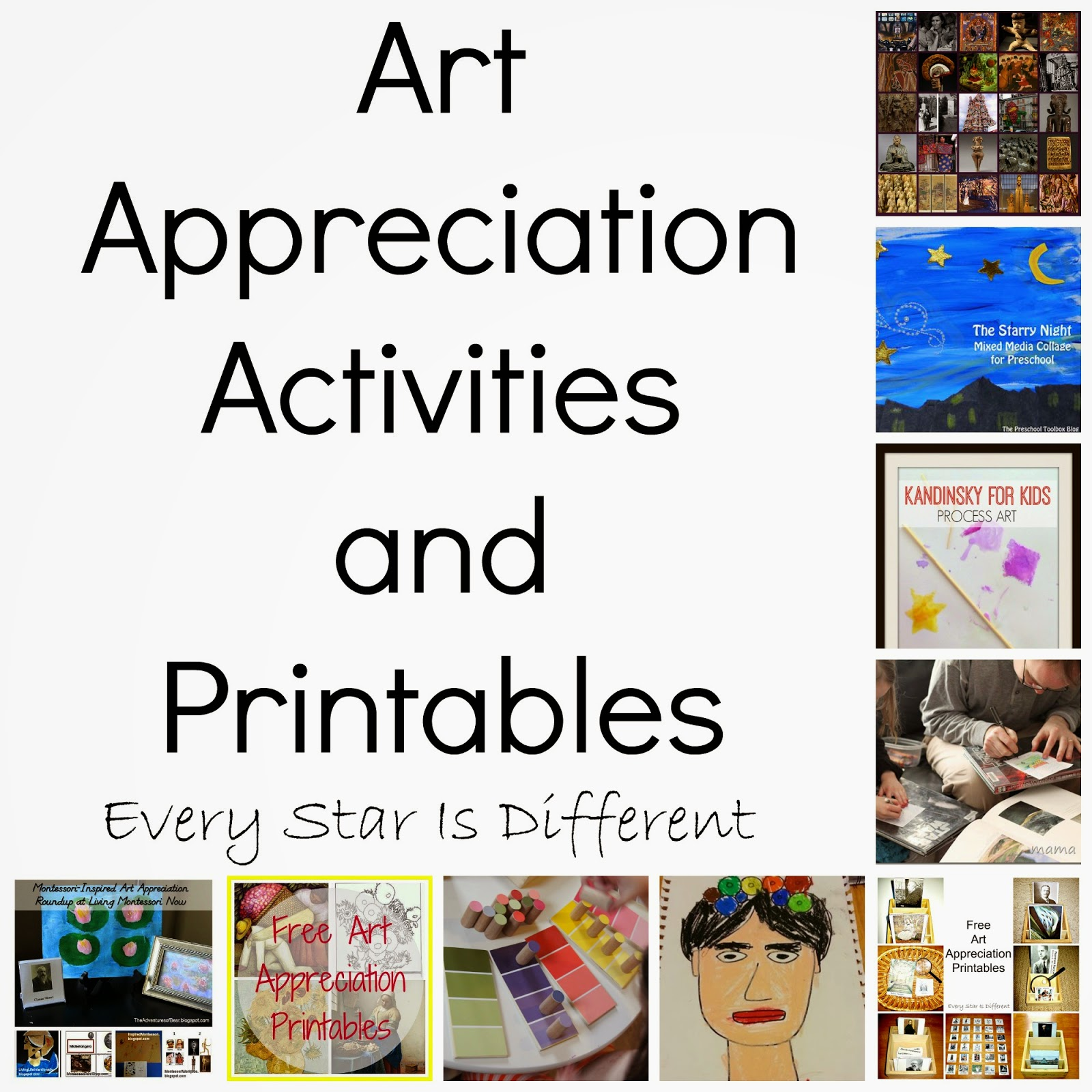 Art Appreciation Activities And Printables For Kids Klp