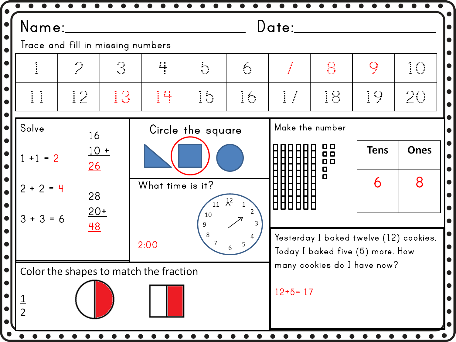 Little Lighthouse Learners First Grade Common Core Math ...