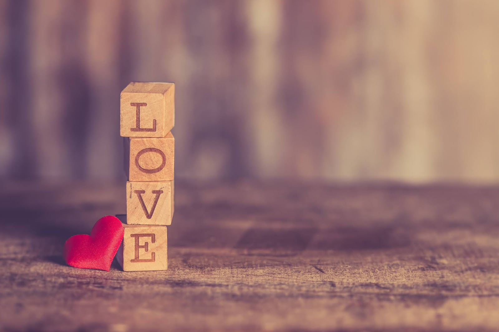 Stack of Love Wooden Blocks, love images