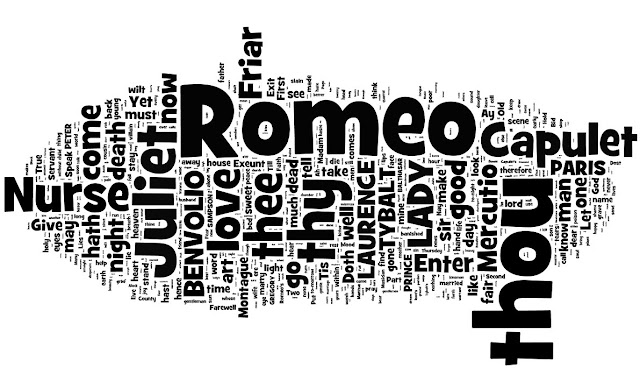 My Shakespeare Year: Day 46: Romeo and Juliet word cloud