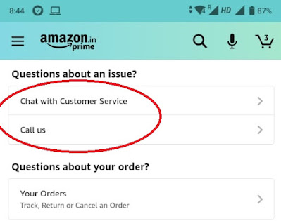 Amazon Standing Instruction - Contact Amazon Support