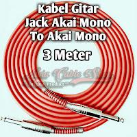 Kabel Gitar Jack Akai Mono To Akai Mono Stainless 3 Meter