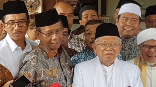 Pernyataan Ma'ruf Amin Terbantah dengan Pengakuan Mahfud MD?