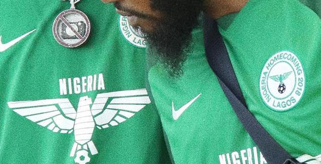 f65a30fcc36 Off-White has teamed up with Nigerian streetwear brand Vivendii and Nike to  create some special football shirts while also promoting the Nike Nigeria  2018 ...
