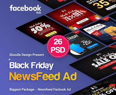 Download BlackFriday NewsFeed FB Ads PSD 2019