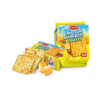 Cream crackers butter merupakan biskuit crackers Kokola dengan kelezatan rasa cream dan mentega. Biskuit cream crackers mentega paling cocok dan enak dinikmati dengan minuman-minuman hangat seperti kopi maupun teh, baik itu di pagi hari maupun di malam hari.