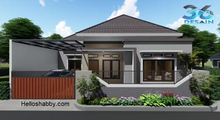 Desain Dan Denah Rumah 12 X 12 M Dengan 3 Kamar Tidur Dan Taman Belakang Yang Menyegarkan Helloshabby Com Interior And Exterior Solutions
